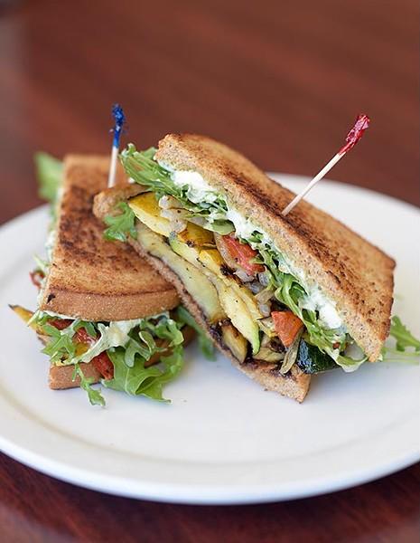 Grilled Veggie sandwich at Chef Curry To Go, Thursday, March 2, 2017. - GARETT FISBECK