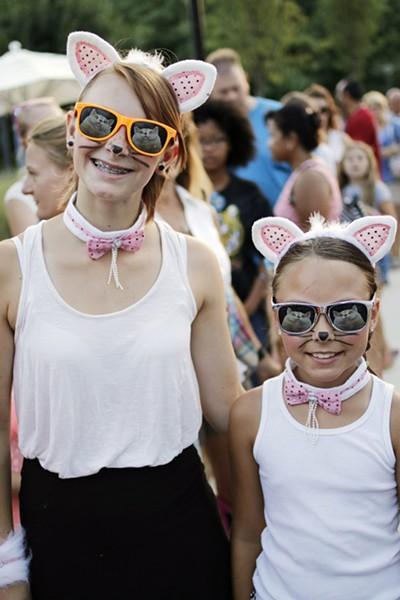 Internet Cat Video Festival on the Great Lawn of the Myriad Botanical Gardens, August 1, 2015. Photo by Doug Hoke - DOUG HOKE