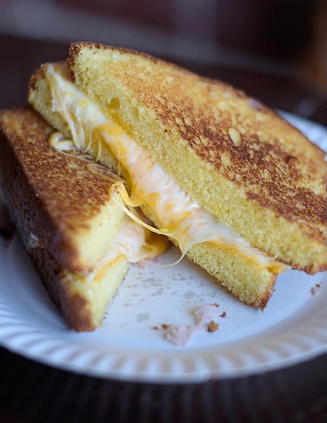 Grilled cheese at Belle Kitchen, Friday, Jan. 27, 2017. - GARETT FISBECK