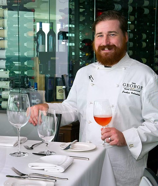 Chef Josh Valentine during opening week of The George. Photo/Shannon Cornman - SHANNON CORNMAN