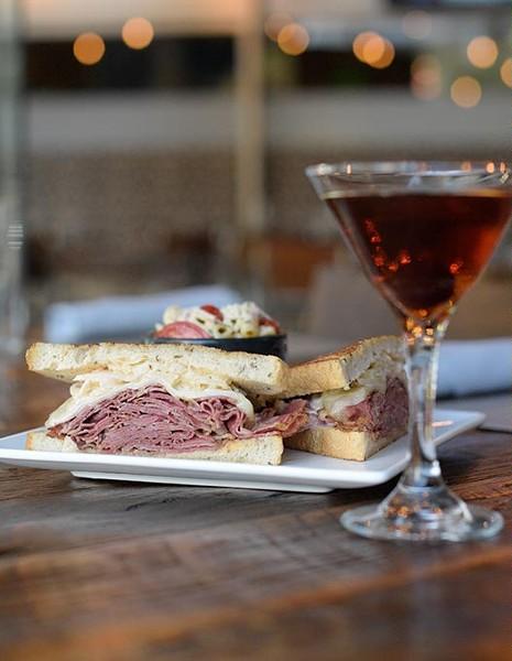 Pastrami reuben at The Manhattan, Thursday, June 22, 2017. - GARETT FISBECK