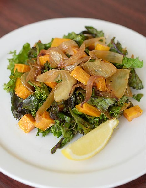 Kale and sweet potato salad at Chef Curry To Go, Thursday, July 27, 2017. - GARETT FISBECK