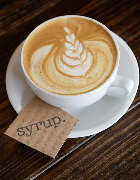 ?Caramel latte at Syrup in Norman, Thursday, Sept. 8, 2016. - GARETT FISBECK