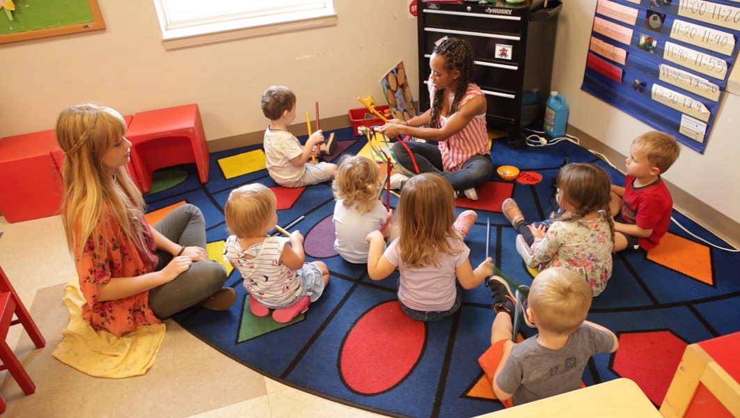 Oklahoma Autism Center students participate in music activities as part of the Early Foundations project. | Photo Oklahoma Autism Center / provided