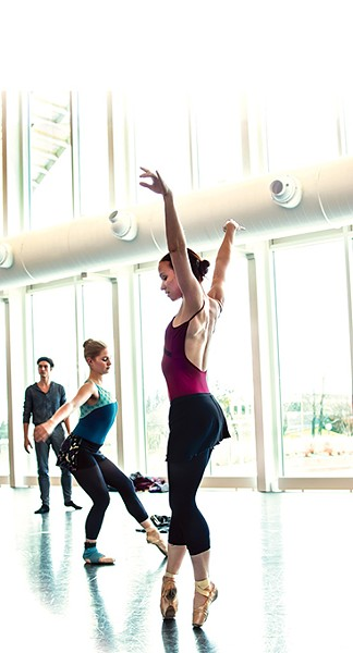 The main rehearsal studio inside Oklahoma City Ballet's Susan E. Brackett Dance Center is larger than the Civic Center Music Hall stage on which the company usually performs. | Photo Mark