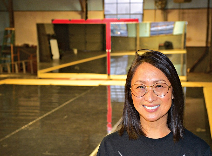 RACE Dance Company executive director Hui Cha Poos inside the company's new studio at 705B W. Sheridan Ave. | Photo Jacob Threadgill