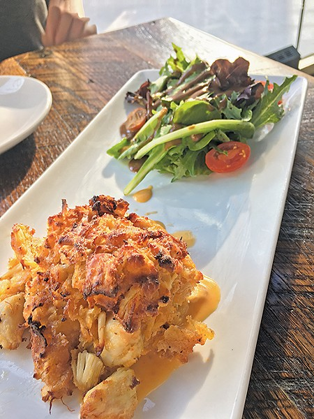 The crabcake is one of a few holdovers from Rococo on The Manhattan OKC's menu. - JACOB THREADGILL
