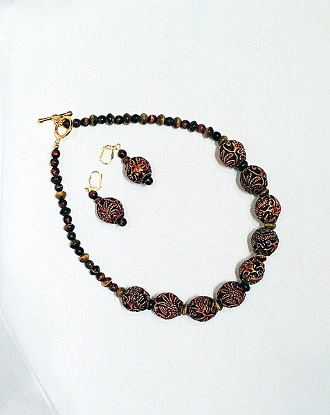 Jaye Talvacchia is a mathematician jewelry maker who has never - exhibited her work before. - JRB ART AT THE ELMS / PROVIDED