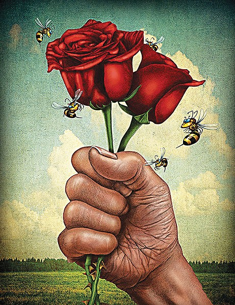 """""""For Rose"""" by Rick George - RICK GEORGE  / JRB ART AT THE ELMS / PROVIDED"""