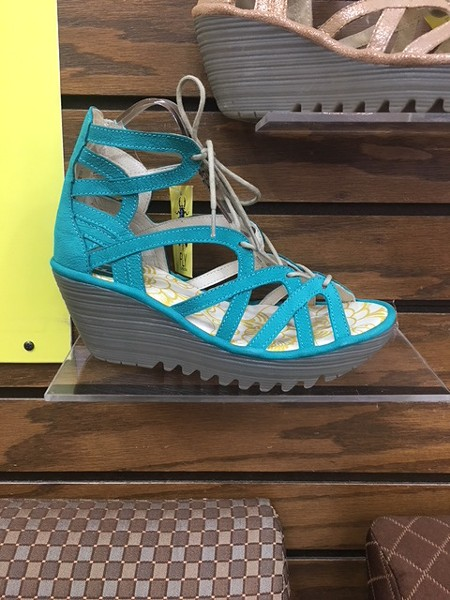 Daniels Shoes features in-demand styles like this sandal from Fly London. - KIMBERLY LYNCH