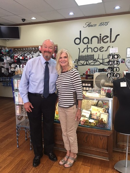 Dan and Linda Brown stock exclusive models from popular shoe brands at their locally owned business. - KIMBERLY LYNCH