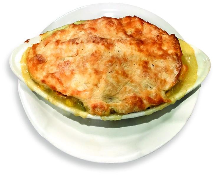 The chicken potpie gets a biscuit crust. - JACOB THREADGILL