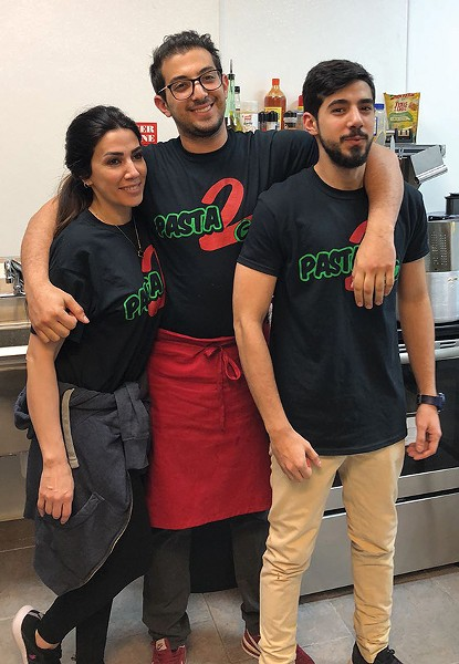 Lina, Shadi and Omar Saleh run Pasta 2 Go along with Bassam Saleh. - PROVIDED