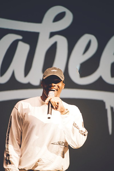 Russell Westbrook chops it up with the crowd at the 2017 Why Not?? Comedy Show. - RYAN MAGNANI / PROVIDED