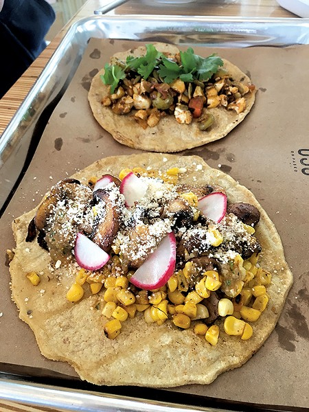 OSO culinary director Ryan Parrott has stocked his taco menu with several vegan options. - JACOB THREADGILL