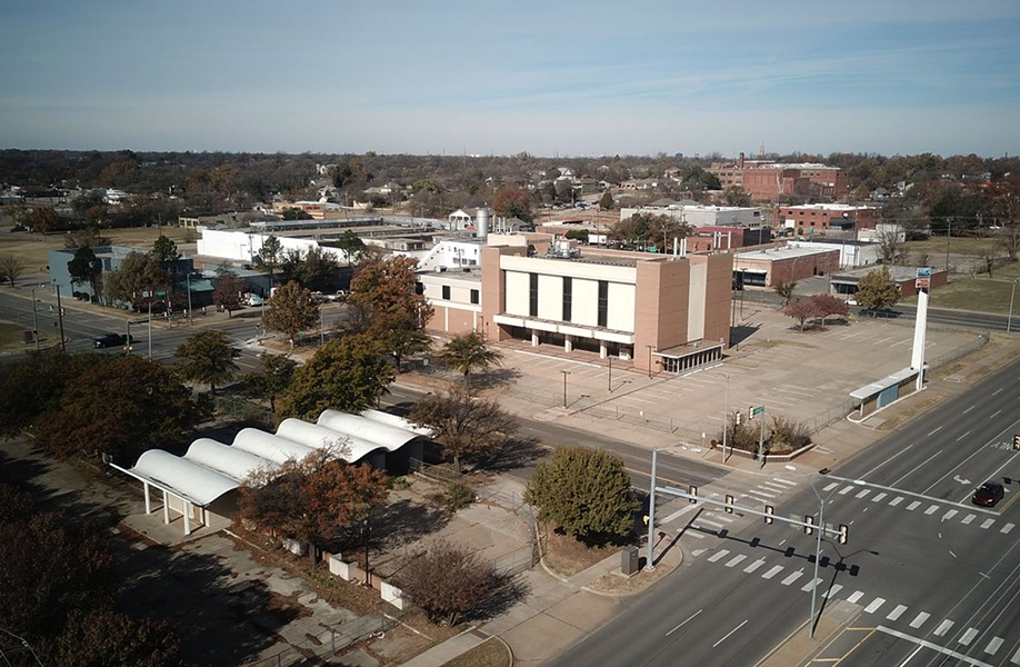 The long-vacant Central National Bank building will be renovated by Oklahoma City Public Schools and named after civil rights leader Clara Luper. - PETE BRZYCKI