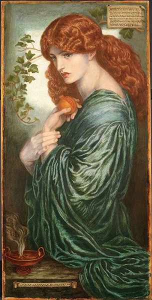 """Proserpine"" by Dante Gabriel Rossetti. - OKLAHOMA CITY MUSEUM OF ART / BIRMINGHAM MUSEUMS TRUST / PROVIDED"