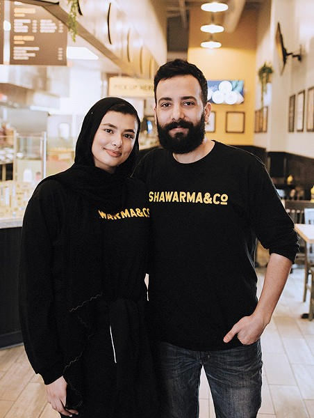 Yaqeen and Mohammad Aboubead operate Shawarma & Co. - ALEXA ACE