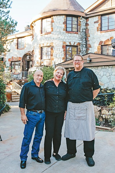 Castle Falls owners Ralph and Amy Rollins with chef David Sullivan - ALEXA ACE