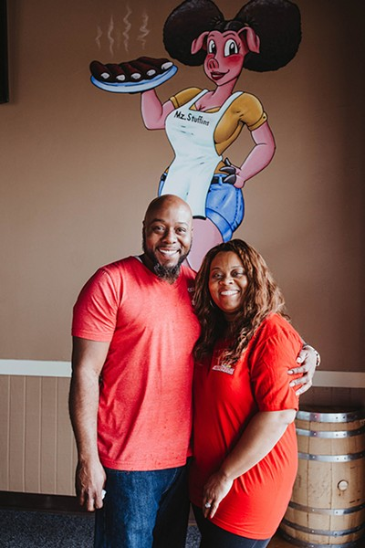 Chris and Nicole Cornish are the owners of Cornish Smokehouse. - ALEXA ACE