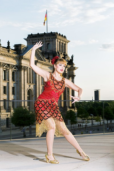 Adèle Wolf is a burlesque performer and producer. Her New Year's Eve Bash starts 10 p.m. Monday at Oklahoma Contemporary Arts Center. - THOMAS KOY