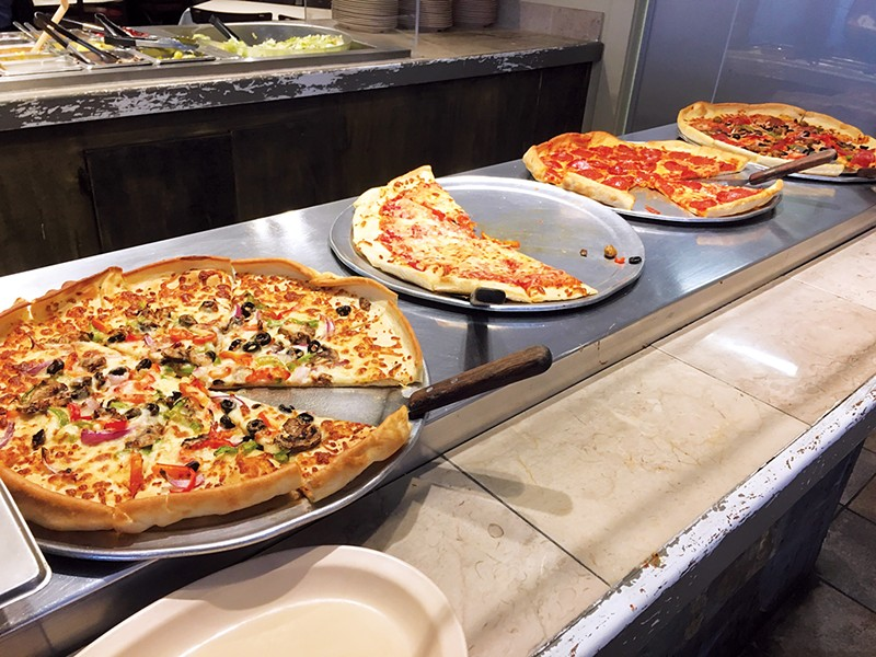Pizza at Italian Express features dough made fresh every day. - JACOB THREADGILL