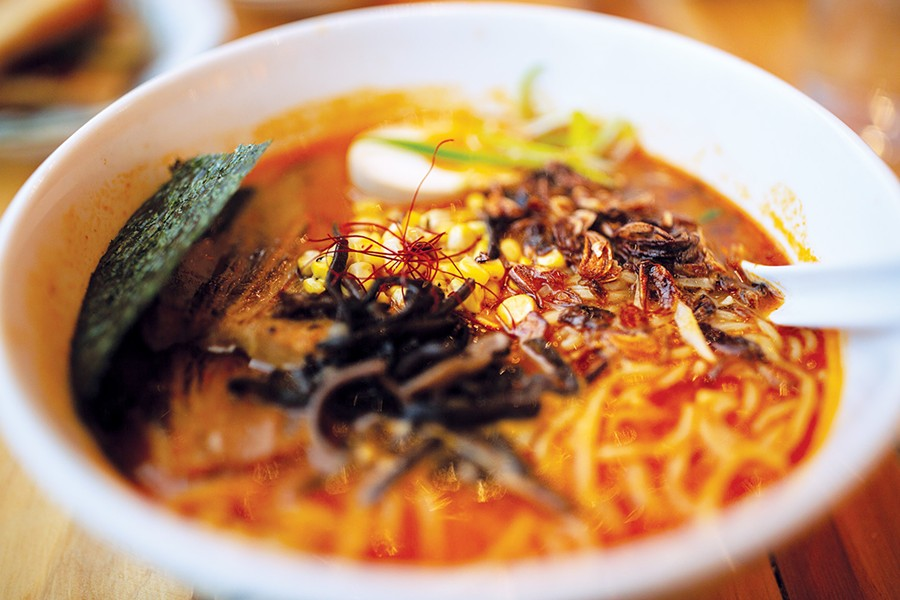 In addition to tacos and entrees, Chigama specializes in a variety of noodles, like the daily variety of soup. - ALEXA ACE