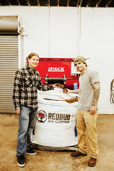 Chris Brady and John Martin own Redbud Soil Company - ALEXA ACE
