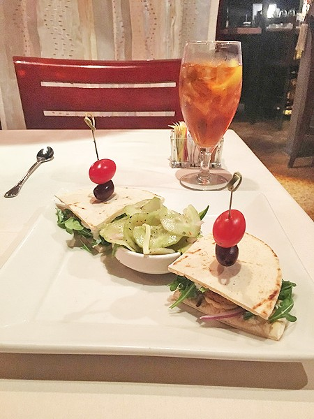 The falafel sandwich is a recent addition to add more vegetarian options to the menu at Paseo Grill. - JACOB THREADGILL
