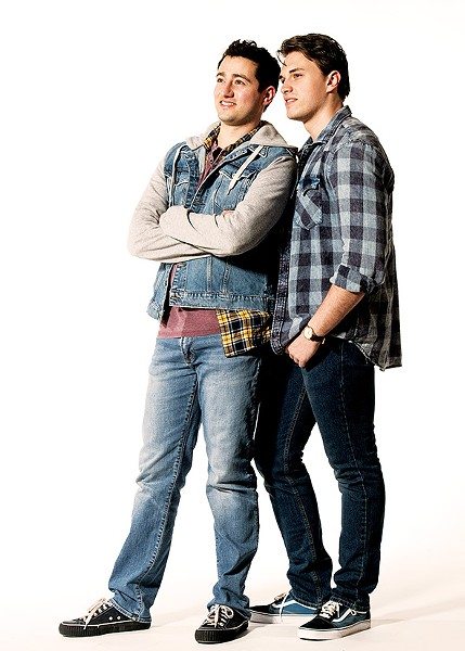 from left Jimmy Mavrikes plays Will and Ian Marcontell plays Mike in Girlfriend at Lyric on the Plaza. - KO RINEARSON / LYRIC THEATRE OF OKLAHOMA / PROVIDED