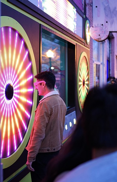 Mix-Tape's boom box features interactive light displays that are accessible 24/7. - JAMES BANKS / PROVIDED