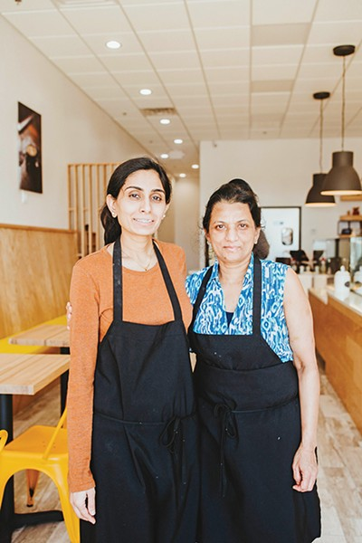 Hemangini Patel with her mother Asha at Dolci Paradiso - ALEXA ACE