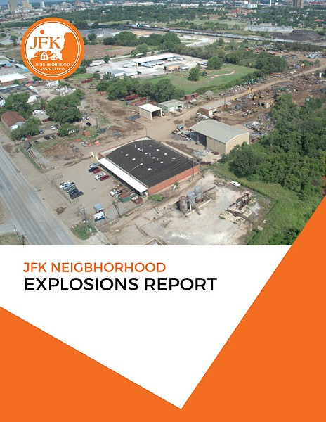 JFK neighborhood residents have been dealing with almost daily explosions from a nearby recycling plant for years. - PROVIDED