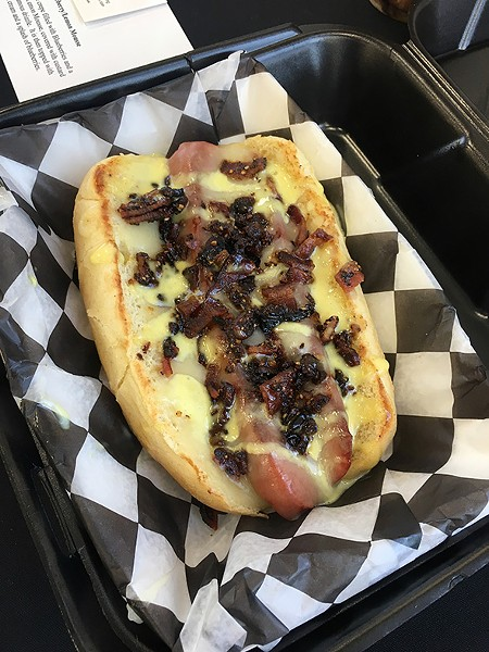 The Urb Express's honey pepper bacon dog is a third-time winner of the savory category. - JACOB THREADGILL