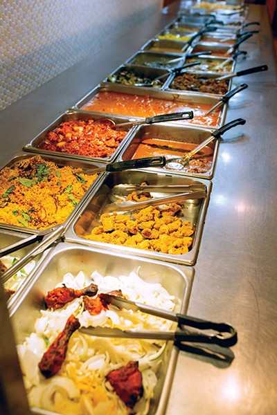 Items at Gopuram: Taste of India's buffet have expanded over the years. - ALEXA ACE