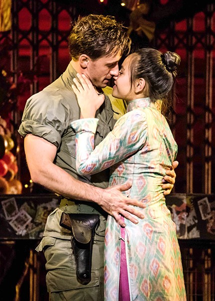Emily Bautista plays Kim and Anthony Festa plays Chris in Miss Saigon. - MATTHEW MURPHY / PROVIDED