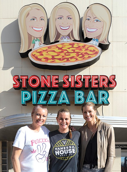 from left Traci Stone, Tami Stone-Lake, and Sheli Stenseth are owners of Stone Sisters Pizza Bar and Stone Edibles. - PHILLIP DANNER