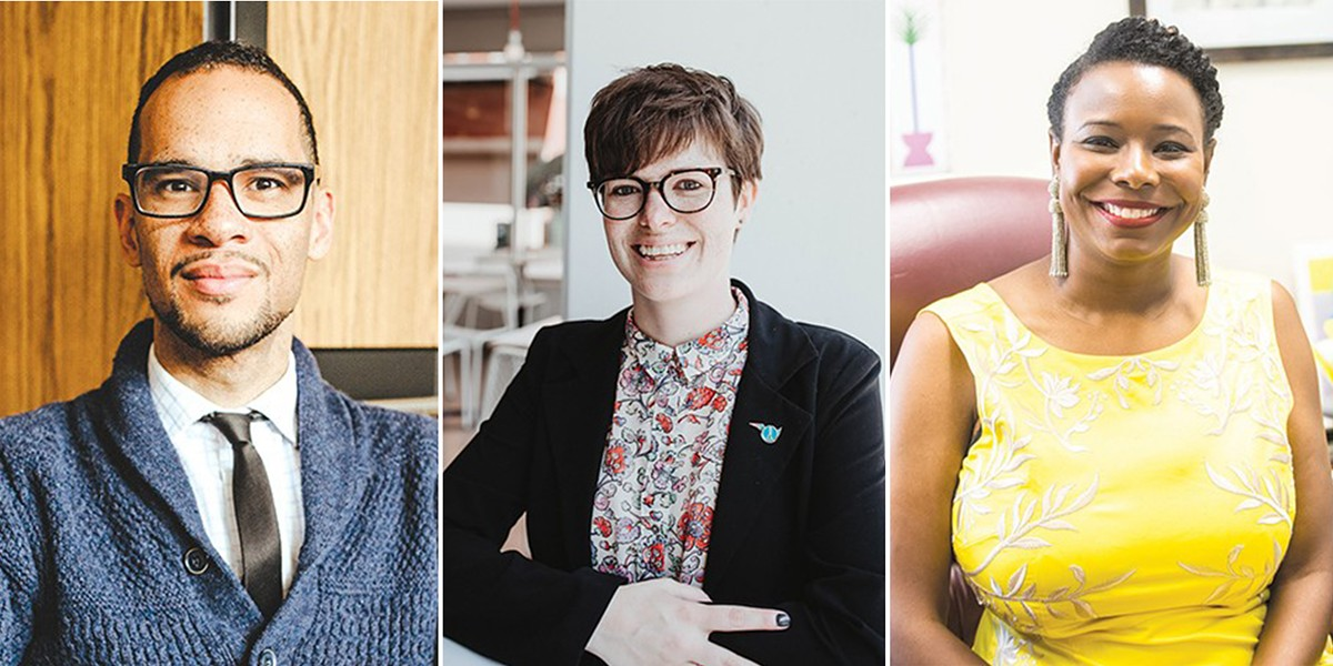 from left Councilmembers James Cooper, JoBeth Hamon and Nikki Nice host a virtual town hall on mental health today at 4 p.m. - ALEXA ACE AND MIGUEL RIOS