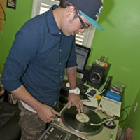 Chips lays down some beats in his home studio.