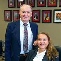 Oklahoma City Indian Clinic president  Dr. Everett Rhoades and CEO Robyn Sunday-Allen pause from a meeting for a quick photo during their busy schedules.Photo/Shannon Cornman