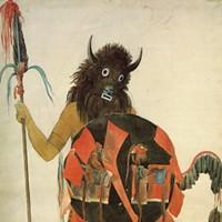"""""""Mandan Buffalo Dancer"""" by Karl Bodmer"""