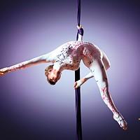 Beautiful dancer on aerial silk aerial contortion aerial ribbons aerial silks aerial tissues fabric ribbon tissue