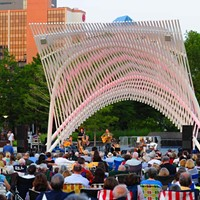 The Twilight Concert Series at the Myriad Gardens starts at 7:30 every Sunday night.Photo/Shannon Cornman