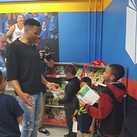 Russell Westbrook puts up big numbers for education with his 19th elementary reading room