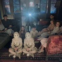 DF-02825modified - Seated on the floor: the twins (Thomas and Joseph Odwell), Fiona (Georgia Pemberton) and Hugh (Milo Parker), Left to right: Emma (Ella Purnell), Jake (Asa Butterfield), Horace (Hayden Keeler-Stone), Miss Peregrine (Eva Green), Enoch (Finlay Macmillan), Claire (Raffiella Chapman), Bronwyn (Pixie Davies) and Olive (Lauren McCrostie) - are the very special residents of MISS PEREGRINE'S HOME FOR PECULIAR CHILDREN. Photo Credit: Leah Gallo / Twentieth Century Fox