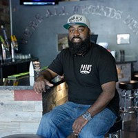 Parks Prince poses for a photo at Parks Bar and Grill, Monday, April 10. 2017.