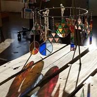 Works by stained glass artist James Rogers at his studio, Wednesday, March 1, 2017.