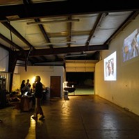 New Media projections during alt shift dance at Resonator in Norman, Friday, Nov. 11, 2016.
