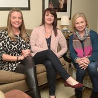 Kristina Duty, Shelley Smith, and Donna Wade pose for a photo at their offices in Oklahoma City, Wednesday, Feb. 15, 2017.