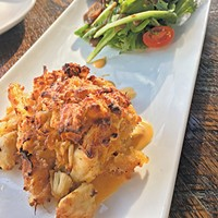The crabcake is one of a few holdovers from Rococo on The Manhattan OKC's menu.